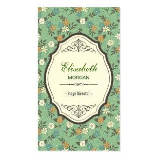 Stage Director - Elegant Vintage Floral Business Card