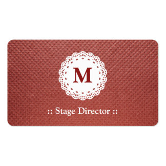 Stage Director Lace Monogram Brown Pattern Pack Of Standard Business Cards