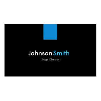 Stage Director Modern Aqua Blue Pack Of Standard Business Cards