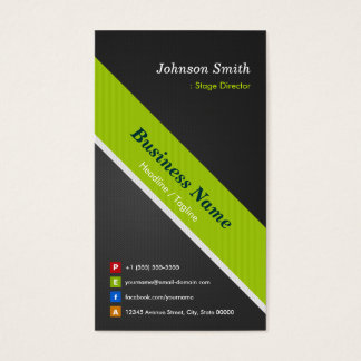 Stage Director - Premium Black and Green Business Card