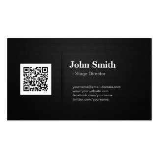 Stage Director - Premium Black QR Code Pack Of Standard Business Cards