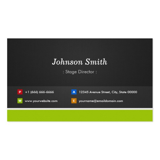 Stage Director - Professional and Premium Business Card