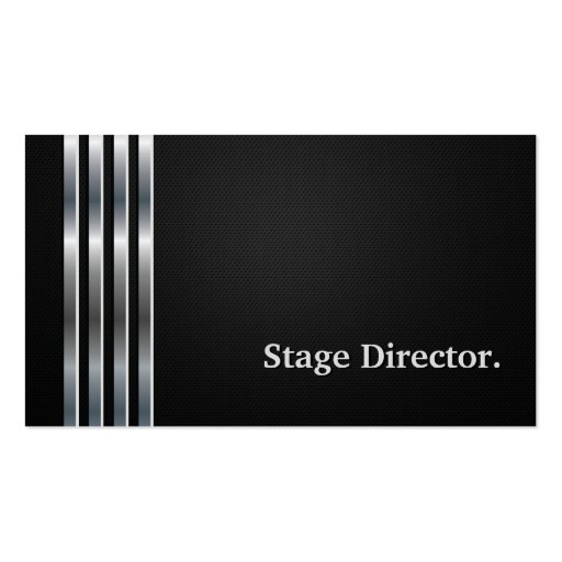 Stage Director Professional Black Silver Business Card
