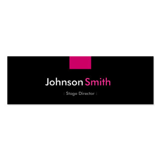 Stage Director - Rose Pink Compact Pack Of Skinny Business Cards