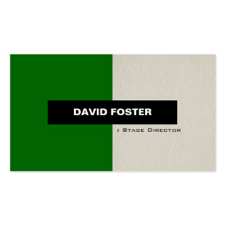 Stage Director - Simple Elegant Stylish Pack Of Standard Business Cards