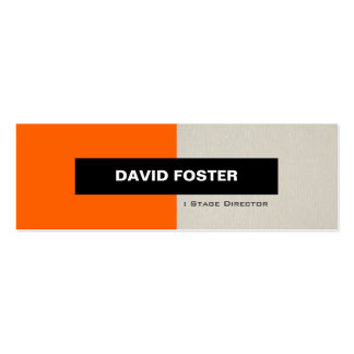 Stage Director - Simple Elegant Stylish Pack Of Skinny Business Cards