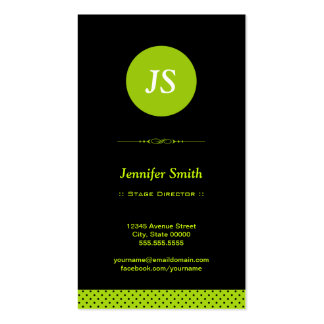 Stage Director - Stylish Apple Green Pack Of Standard Business Cards