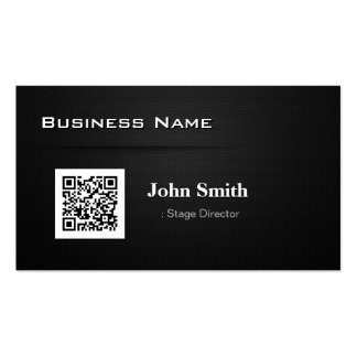 Stage Director - with Business QR Code Pack Of Standard Business Cards