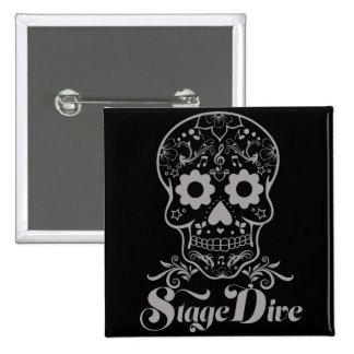 Stage Dive - Candy Skull Black 2 Inch Square Button