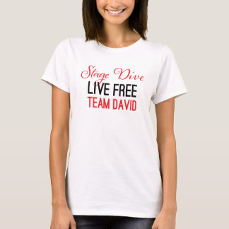Stage Dive - Live Free in red T-Shirt