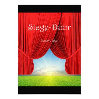 "Stage-Door Postcard 3.5"" X 5"" Invitation Card"