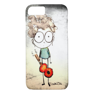 Stage Fright Guitar Girl iPhone 7 Case