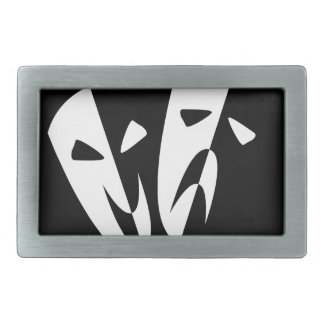 Stage Masks Rectangular Belt Buckles