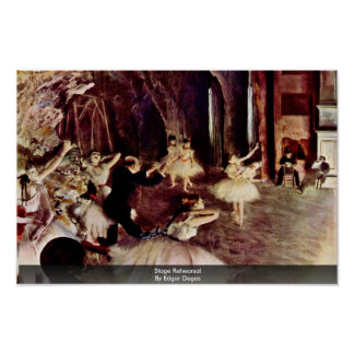 Stage Rehearsal By Edgar Degas Posters