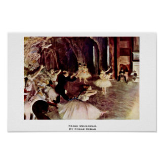 Stage Rehearsal By Edgar Degas Print