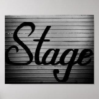 """""""Stage"""" Vintage Sign"""