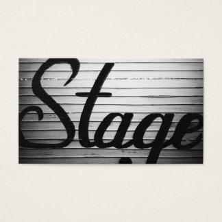 """""""Stage"""" Vintage Sign Business Card"""