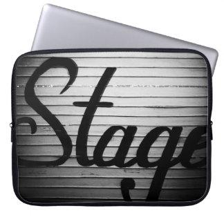"""Stage"" Vintage Sign Laptop Sleeve"