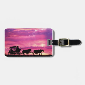 Stagecoach At Sunset Bag Tag