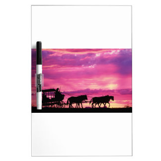 Stagecoach At Sunset Dry-Erase Boards