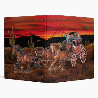 STAGECOACH COWBOYS 3 RING BINDERS
