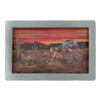 STAGECOACH COWBOYS BELT BUCKLE