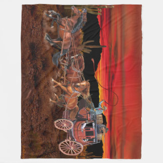 STAGECOACH COWBOYS FLEECE BLANKET