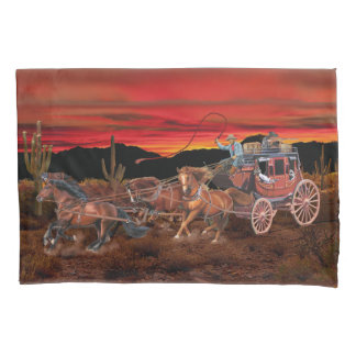 STAGECOACH COWBOYS PILLOWCASE