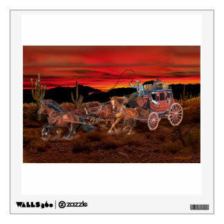 STAGECOACH COWBOYS WALL STICKER