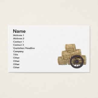 Stagecoach Wheel and Bales of Hay Business Card