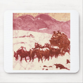Stagecoach winter mousepads