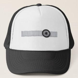 StagecoachWheelWhitePicketFence112611 Trucker Hat