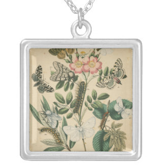 Stages of Butterfly Life by Vision Studio Silver Plated Necklace