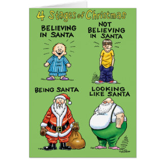 Stages Of Christmas Humor Holiday Card
