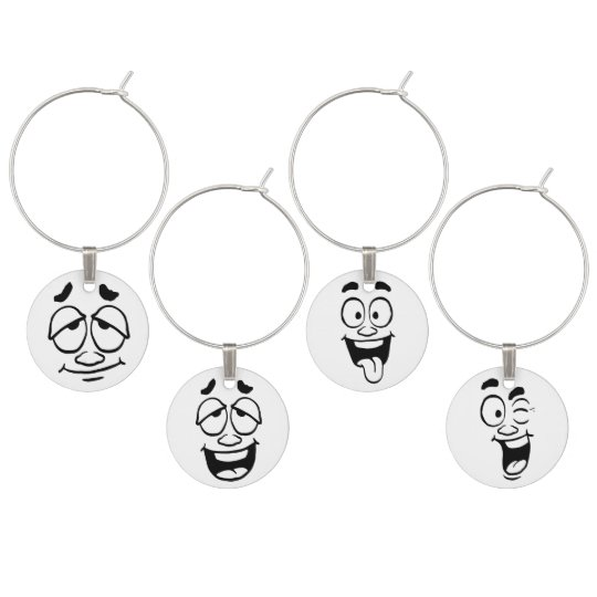 Stages of Drinking Wine Mellow, Happy, Fun, Flirty Wine Charm