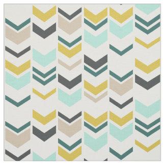 Staggered Chevron Modern Geometric Fabric