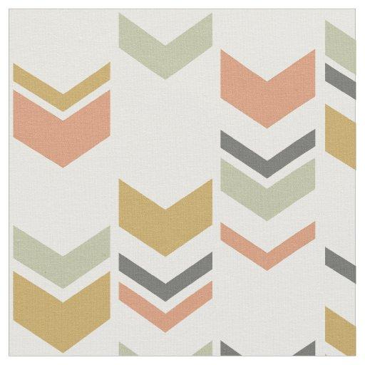 Staggered Chevron Modern Geometric Pattern Fabric