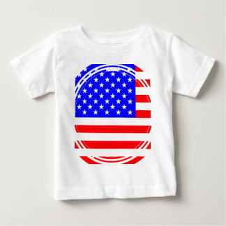 Staggered Stars and Stripes Baby T-Shirt