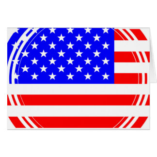 Staggered Stars and Stripes Card