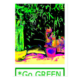 Staghorn Fern GO GREEN jGibney The MUSEUM Zazzle G Postcard