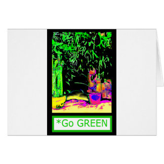 Staghorn Ferns GO GREEN jGibney The MUSEUM Zazzle Greeting Card