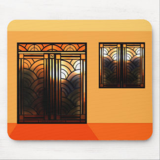 Stain Glass Art Deco Mouse Pad