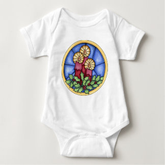Stain Glass Candles christmas Baby Bodysuit