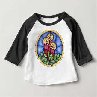 Stain Glass Candles christmas Baby T-Shirt
