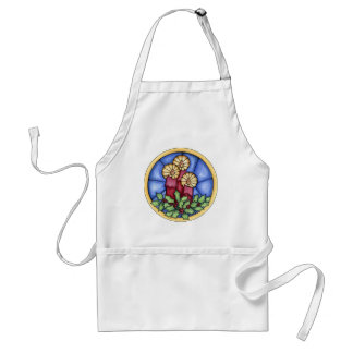Stain Glass Candles christmas Standard Apron