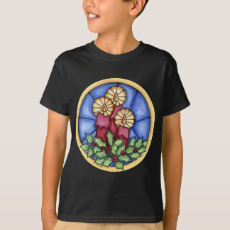 Stain Glass Candles christmas T-Shirt