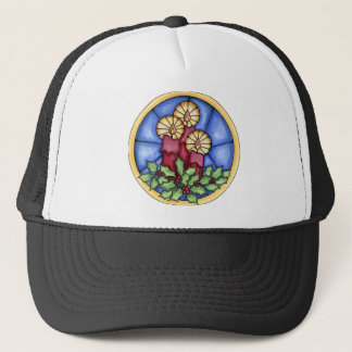 Stain Glass Candles christmas Trucker Hat