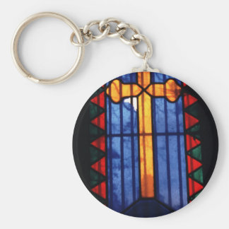 Stain Glass Cross Pere Lachaise Paris Keychain