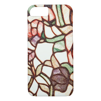Stain Glass Flower Drawing iPhone 7 Case
