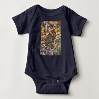 Stain glass Kitty Baby Bodysuit